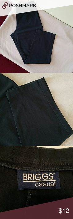 Briggs Casual black pants Briggs Casual black pants with side zipper in good condition.length is 39 inches from waist to hem.  Inseam is 28 inches. Briggs Casual  Pants