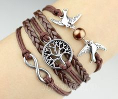 Bangle Cuff Bracelet Tree of life Bracelet Silvery by handworld, $5.99