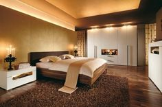 Shades of brown and gold work well together to create a sumptuous, spa-like feel