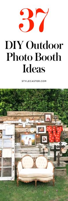 37 DIY outdoor photo booth backdrop ideas for weddings, summer parties, and backyard entertaining | @stylecaster