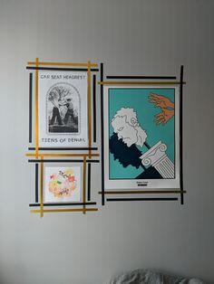 16 Ideas For Wall Design Creative Washi Tape Tape Wall Art, Washi Tape Wall, Tape Art, Diy Washi Tape Frames, Diy Wand, Frames On Wall, Framed Wall Art, Wall Décor, Photo Deco