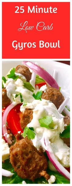 25 minute low carb gyro bowl