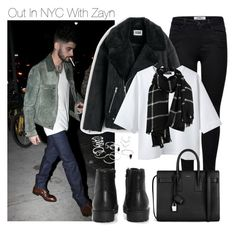 """""""Out In NYC With Zayn"""" by one-styles ❤ liked on Polyvore featuring ONLY, DAMIR DOMA, Yves Saint Laurent and Boohoo"""