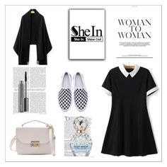 """SheIn 7/VII"" by hedija-okanovic ❤ liked on Polyvore featuring Balmain, Marc Jacobs, MAC Cosmetics and shein"