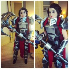 League of Legends - female Darius cosplay Amazing Cosplay, League Of Legends, Best Makeup Products, Deadpool, Champion, Princess Zelda, Superhero, Female, Fictional Characters