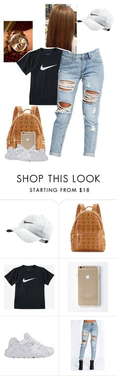 """Huaraches."" by kvgxo ❤ liked on Polyvore featuring NIKE, MCM and Boohoo"