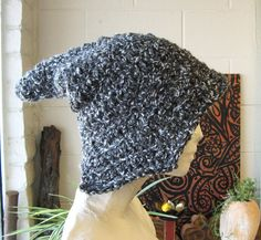 Gray Woodfolk Medieval Peaked Hat Crochet Pixie by TheMysticWood