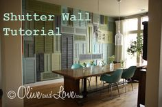 Shutter Wall Tutorial