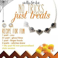 Stella & Dot Halloween theme. www.stelladot.com/christinelammers