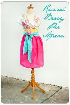(9) Name: 'Sewing : Razzleberry apron