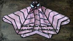 Spider Woman Cape/Wrap Crochet Pattern | Craftsy