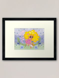 Cute and nice Kawaii or chibi style digital drawing wall art idea  for your baby girl room or childrenn bedroom. Trending vibrant colors idea Framed Prints, Canvas Prints, Art Prints, Bird Canvas, Bts Wallpaper, Girl Room, Art Boards, Vibrant Colors