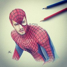 Liam or Spiderman One Direction Group, One Direction Drawings, Amazing Spider Man 3, Five Guys, Liam Payne, Art Tips, Beautiful Artwork, Cool Bands, Art Pictures