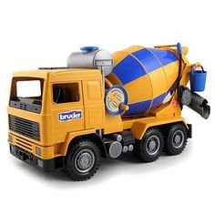 Bruder Cement Mixer Truck  Features realistic details such as an engine bonnet and doors that open Made in Germany Manufactured from high-quality plastics such as ABS Scale 1:16 Recommended for playing indoors and outdoors  available at webmallforyou.com