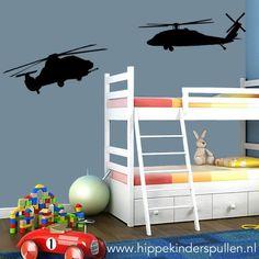 Van babykamer naar stoere jongenskamer? Deze twee helicopters maken de kamer helemaal af. Kies uit meer dan 20 kleuren.