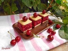 meggyes-kekszes sütés nélkül Cherry, Food And Drink, Pudding, Diet, Fruit, Kitchen, Dessert Ideas, Food And Drinks, Summer