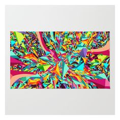 Candy Explosion Rug ($28) ❤ liked on Polyvore featuring home, rugs, graphic rugs, non skid area rugs, weave rug, woven rugs and non skid rugs