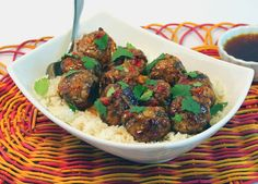 Pineapple Ginger Meatballs made with Johnsonville Pork & Chicken Traditional Bratwurst