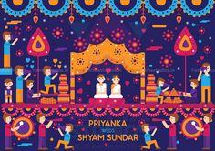 Vivid Indian Wedding Invite Design - Print Ready Invite on Behance