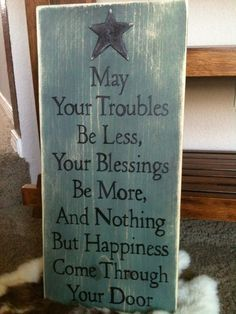 Etsy. Primitive Rustic wood sign, Nothing But Happiness. LOVE the quote, color… …