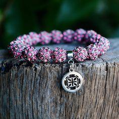 Kennedy Pink Silver – Rustic Cuff