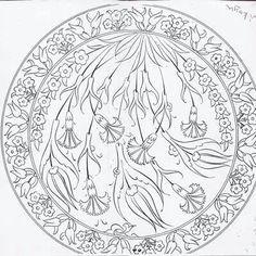 Çini Painted Ceramic Plates, Ceramic Painting, Turkish Pattern, Turkish Art, Turkish Design, Glass Engraving, Plate Design, Colouring Pages, Paint Designs