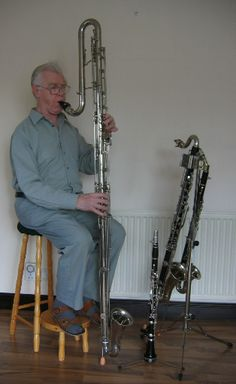 my instrument family.  I love it... Contrabass clarinet