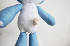 Denim Lamb detail. Floppie doll || by Vir Lief Sewing For Kids, Sewing Clothes, Diy Tutorial, Little Ones, Lamb, Dolls, Denim, Puppet, Doll