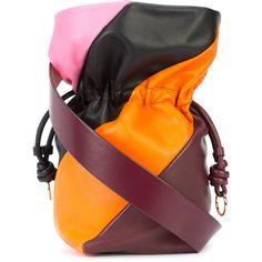 Dvf Diane Von Furstenberg Evening drawstring bag ($310) ❤ liked on Polyvore featuring bags, handbags, multi coloured handbags, pocket purse, cocktail purse, orange purse and special occasion handbags