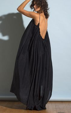 Gather Maxi Dress in Silk
