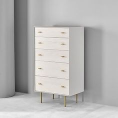 Modernist Wood & Lacquer Dresser w/ Jewelry Drawer - Winter Wood Small Dresser, 5 Drawer Dresser, Modern Dresser, Small Drawers, Tall Skinny Dresser, Contemporary Dressers, Narrow Dresser, Chest Dresser, West Elm