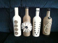 pinterest bottles with strings burlap - Google Search
