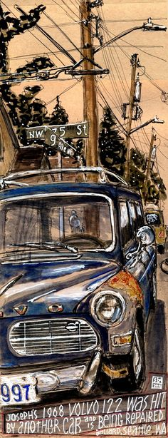 Nice illustration from Urban Sketchers Seattle: May 2014 by David Hingtgen.