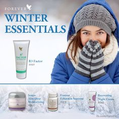 Winter Essentials. Are all available from our website www.kimandterry.myforever.biz
