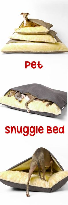 Snuggle beds are perfect for any dog that loves to tunnel under clothes, blankets or anything it can find to tunnel under.