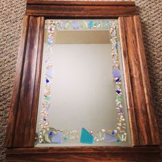 Luxe designs by Lucy Home Decor with Sea Glass- Hall Mirror $89.99 www.luxedesignsbylucy.com These are special orders 12x20! Message me!