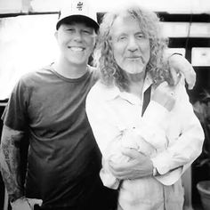 James Hetfield and Robert Plant - Too much cool in one picture.