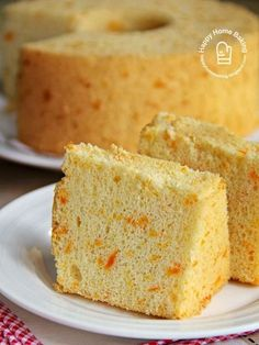 The first time I made this carrot chiffon cake I tested it with my new Bosch kitchen machine. The Bosch mixer is able to whisk the. Chiffon Recipe, Orange Chiffon Cake, Cotton Cake, Resep Cake, Sponge Cake Recipes, Salty Cake, Just Cakes, Party Desserts, Fancy Cakes