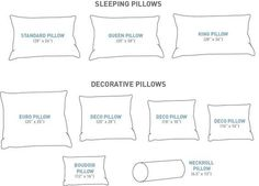 Crochet Blankets For Men Size Matters! (For your pillows) - Au Lit Fine Linens - King Size Pillows, Bed Pillows, Bed Linens, Pillow Shams, Bed Pillow Arrangement, Fine Linens, Perfect Pillow, Soft Furnishings, Master Suite