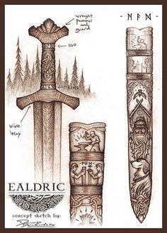 Ealdric Sketch by Cedarlore Forge, via Flickr