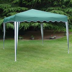 Easy up gazebo in green and white. http://www.worldstores.co.uk/p/Green_and_White_Easy_Up_Gazebo.htm