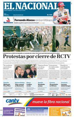 Con protestas la gente acompañó el cierre de RCTV. Publicado el 28 de mayo de 2007.