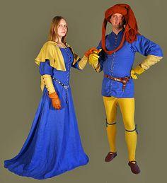 Medieval Clothing and Footwear- 14th- 15th Century Men's Lancelot du Lac Cotehardie