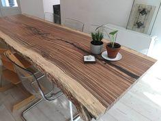 Tree trunk kitchen table