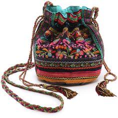 Star Mela Kalaya Small Pouch Handbag ($72) ❤ liked on Polyvore