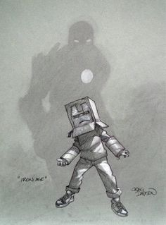 Iron Man - Iron Age by Craig Davison Marvel Dc Comics, Anime Comics, Comic Character, Character Design, Comic Art, Comic Books, Arte Nerd, Pin Up, Superhero Kids