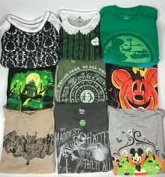 e5f37164 Disney The Haunted Mansion & Halloween T-Shirts Glow in the Dark Pick  and