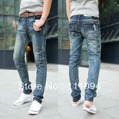 2013 fashionmans jeans summer light color men jeans  slim water wash skinny pants male  fashion jeans for men mans jeans $20.94