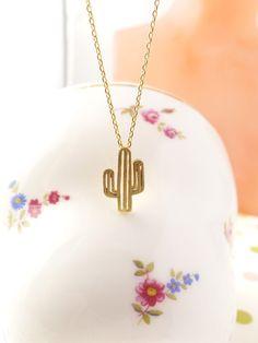 Cactus Necklace, Dainty Necklace, Everyday Necklace, Feminine Necklace, Minimalist Jewelry, Gift Necklace,Unique Pendant Necklace by DearMia on Etsy https://www.etsy.com/listing/237140710/cactus-necklace-dainty-necklace-everyday