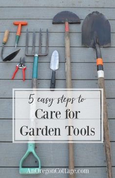 #sponsored  It's easy to care for garden tools the same way we care for our plants! Not only will cared for tools last longer, they will make gardening easier.  #gardening #gardentips #tools